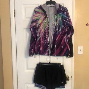 Fila Sport Shorts and Windbreaker bundle